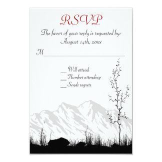 Belle montagne de silhouette épousant RSVP Carton D'invitation 8,89 Cm X 12,70 Cm