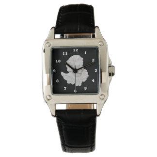 Belle montre-bracelet blanche de carré d'ange montres