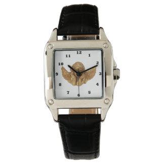 Belle montre-bracelet religieuse d'ange d'or montres cadran