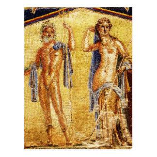 BELLE mosaïque de Pompeii Carte Postale