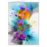 Belle note colorée et fraîche de musique d'éclabou carte de vœux