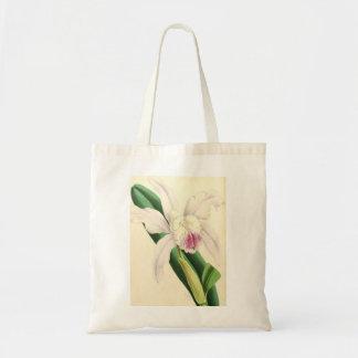 Belle orchidée blanche sac fourre-tout