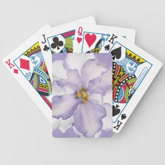 Belle orchidée de lavande jeu de cartes