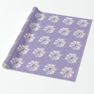 Belle orchidée de lavande papier cadeau noël