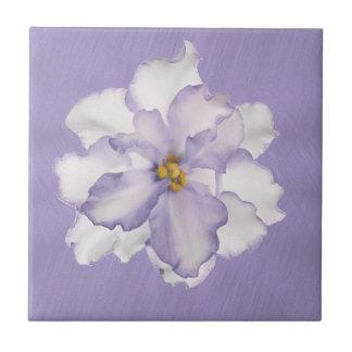 Belle orchidée de lavande petit carreau carré