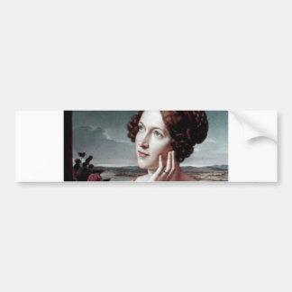 Belle peinture d'antiquité de femme de mode autocollant pour voiture