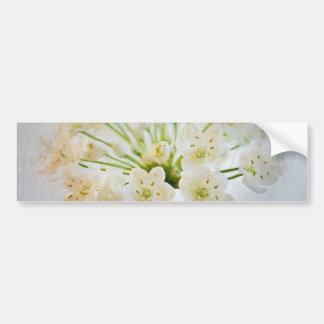 Belle peinture de fleur de poireau autocollant pour voiture