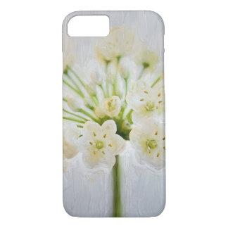 Belle peinture de fleur de poireau coque iPhone 7