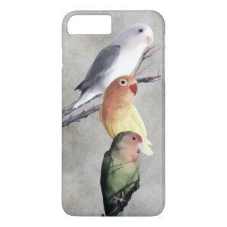 Belle peinture de perruches coque iPhone 7 plus