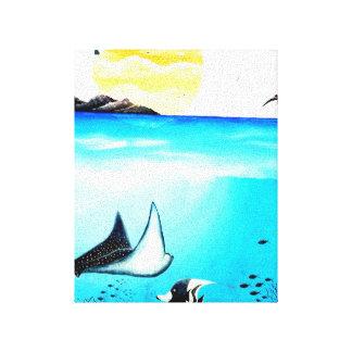 Belle peinture de scène sous-marine toiles