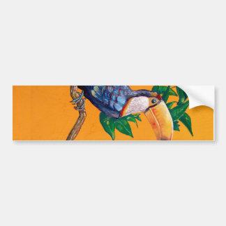Belle peinture d'oiseau de toucan autocollant de voiture