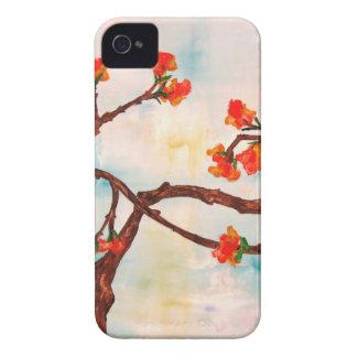 Belle peinture florale des fleurs coque Case-Mate iPhone 4
