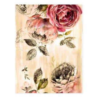 Belle peinture florale victorienne carte postale
