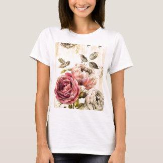 Belle peinture florale victorienne t-shirt