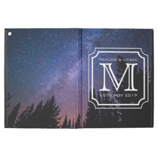 "Belle photo de paysage de monogramme beau simple iPad pro 12.9"" case"