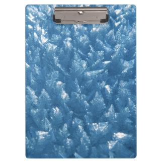 belle photographie bleue fraîche de cristaux de