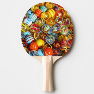 belle photographie de marbre en verre colorée de raquette tennis de table