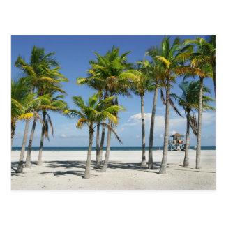 Belle plage ensoleillée en carte postale