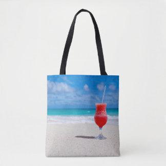 Belle plage tropicale des Caraïbe de daiquiri de Tote Bag