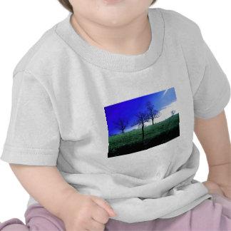 Belle scène de nature d'hiver t-shirts