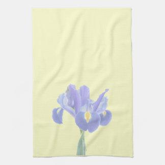 Belle serviette de thé d'iris linges de cuisine