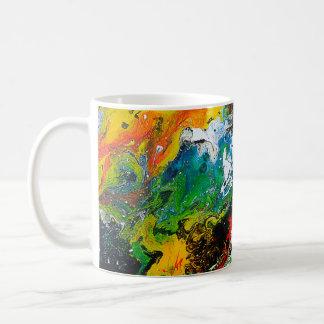 Belle tasse de café colorée de conception d'art