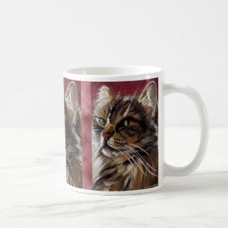 Belle tasse de chat de ragondin du Maine de rêveur