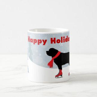 Belle tasse de vacances de chien de Newfie