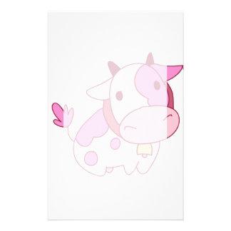 Belle vache rose à bande dessinée