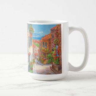 Belle vieille tasse de peinture de ville