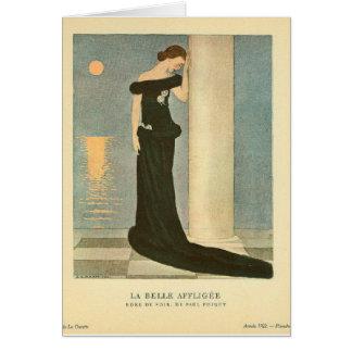 Belle vintage Affligee de La de ~ d'illustration Carte De Vœux