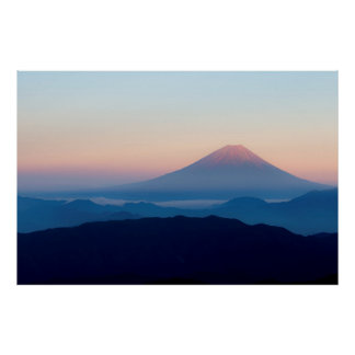 Belle vue le mont Fuji, Japon, lever de soleil Posters