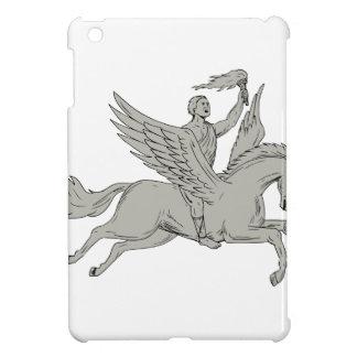 Bellerophon montant le dessin de torche de coques iPad mini