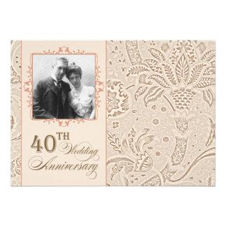 belles 40 invitations de photo d anniversaire