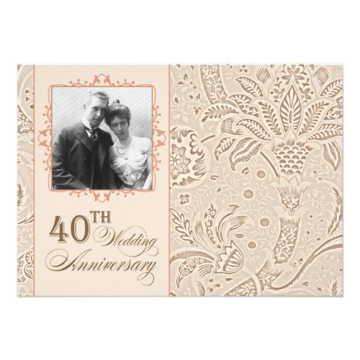 belles 40 invitations de photo d'anniversaire