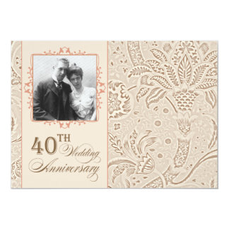 belles 40 invitations de photo d'anniversaire