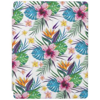 Belles aquarelles florales tropicales de peinture protection iPad