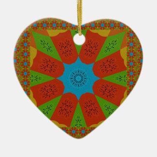 Belles couleurs féminines africaines ornement cœur en céramique