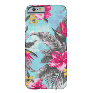 Belles couleurs pour aquarelle florales tropicales coque barely there iPhone 6