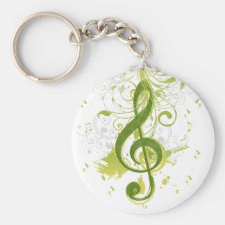 Belles et fraîches notes de musique avec l'éclabou porte-clé rond