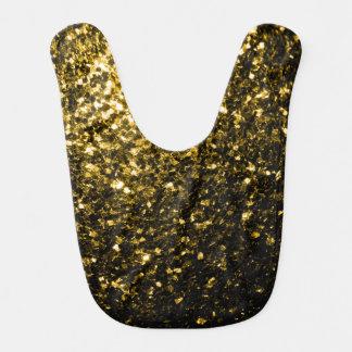 Belles étincelles d'or jaune bavoirs