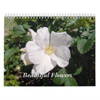Belles fleurs calendriers muraux