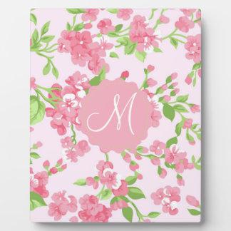 Belles fleurs de pêche d'aquarelle de rose de plaques d'affichage