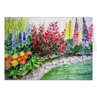 Belles fleurs sur une carte de peinture de mur en