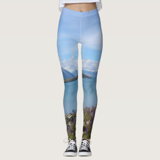 Belles guêtres de Tekapo de lac new Zealand Leggings