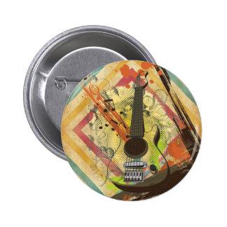 Belles notes vintages fraîches de musique de guita badges