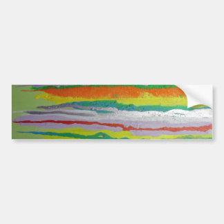 belles rayures colorées de peinture autocollant pour voiture