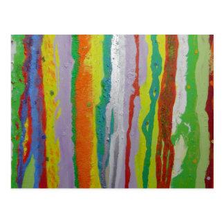 belles rayures colorées de peinture carte postale