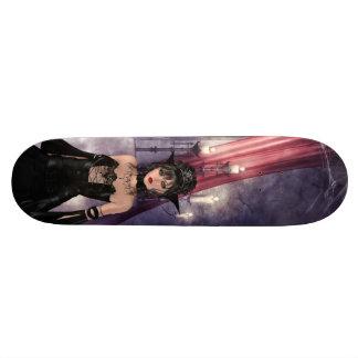 Belles reine et bougies gothiques plateaux de skateboards customisés