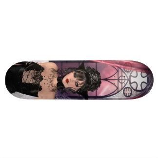 Belles reine et fenêtre gothiques plateaux de skateboards